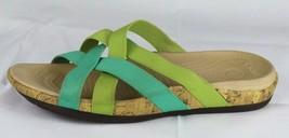Crocs women's sandals slide elastic strap green size 10 - $19.98