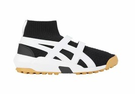 Men Sneakers Socks Black Asics Shoes Black White Knit Trainer - $201.20