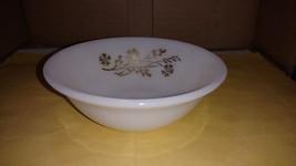 "Federal Glass Co Milk Glass Meadow Gold 5"" Small Fruit Dessert Bowl - $5.00"