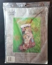 Candamar Something Special Needlepoint MADONNA AND CHILD Christmas Stocking Kit - $49.45