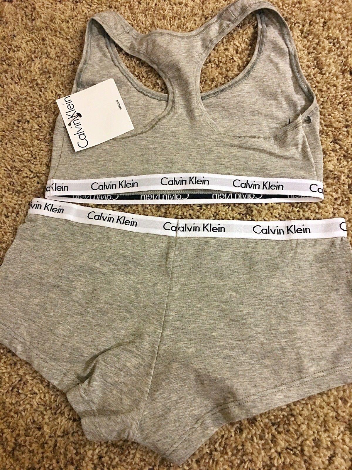 cf7725e35bf58 Calvin Klein Womens Modern Cotton Bralette and Boyshort Set Calvin Klein  Women   s IA