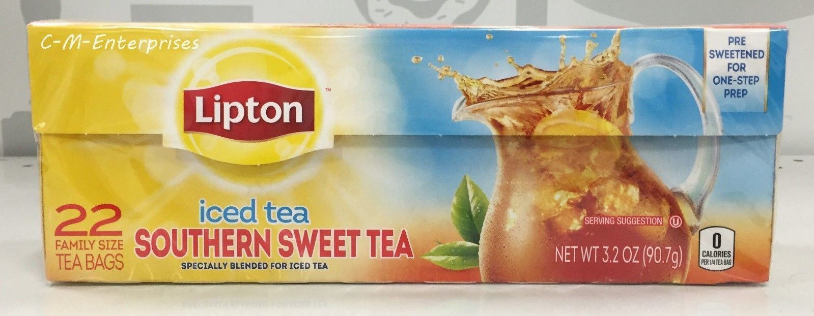 Lipton Iced Tea Southern Sweet Bags 22 Ct 3 2 Oz