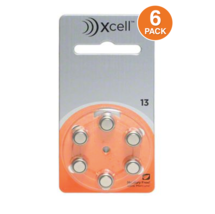Rayovac Xcell Size 13 MF Hearing Aid Batteries Zinc Air (6 Pack) - $4.94