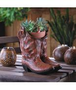 COWBOY BOOTS PLANTER Flower Pot Country Western Centerpiece - $25.95