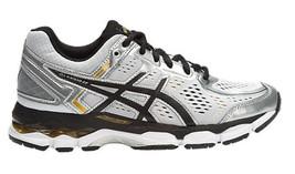 ASICS Junior Youth Kids Shoes GEL-KAYANO 22 GS SILVER/BLACK/GOLD Running - $95.00