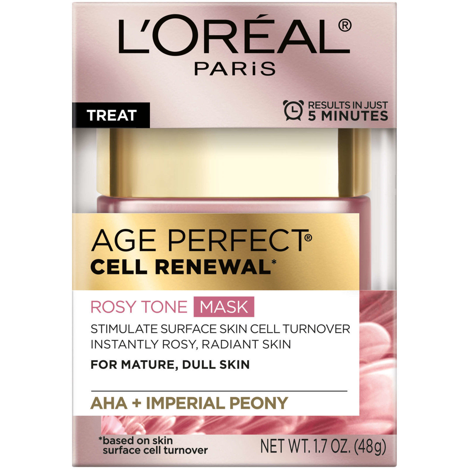L'oreal Age Perfect Cell Renewal Rosy Tone Mask - 1.7 OZ - $11.29