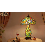Tiffany Style Flowers Stained Glass Shade Table/ Desk Lamp  E27 Reading ... - $293.95