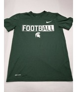 Michigan State Spartans Nike Dri-Fit Football T-Shirt Small Excellent Co... - $13.85