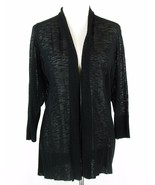 COLDWATER CREEK Size 1X 16W-18W Sheer Black Seeded Lightweight Cardigan ... - $21.99