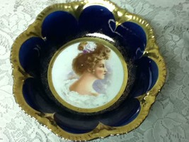 Antique, Rare, Empire China, Flow Blue Portrait, Large 10.5in x 2.5in Bowl - $66.45