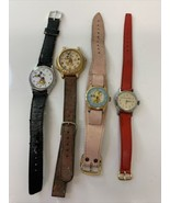 Vintage Watch Lot of 4 Disney Snow white, Barbie and Mickey Mouse NOT WO... - $23.36