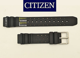 Genuine Citizen Eco Drive 15mm Ladies  Black Rubber Watch Band STRAP EP6... - $44.95