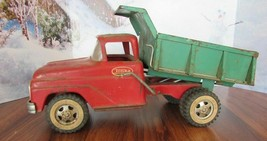 Vintage 1970's  Tonka Toys Dump Truck red Truck Pressed Steel - $107.53