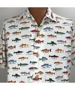 Black Mountain Outdoor Fresh Water Fishing Shirt Size 2X Trout Perch Salmon - $39.59
