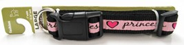 "Dog Collar Large Pink Princess Heart 1"" W 15-26"" NEW - $9.89"