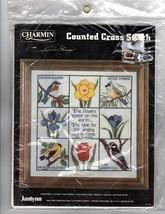SONG OF SOLOMON Counted Cross Stitch Sampler Kit Birds Flowers Janlynn #... - $26.47