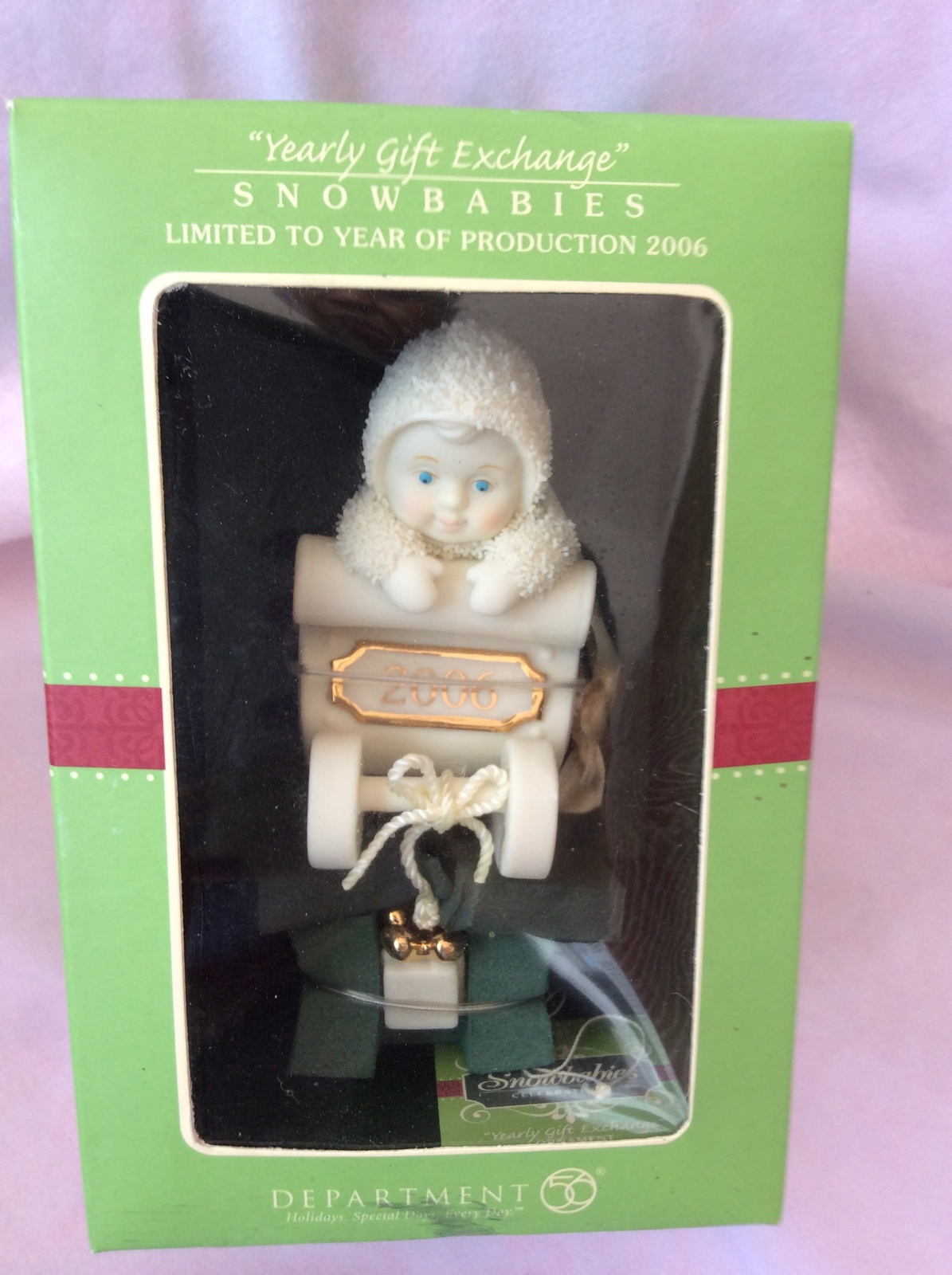 2006 China Bisque Porcelain Snow Baby Ornament In Box