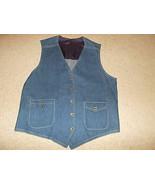 Vtg-New 1970s Lee Satz Denim Jeans Weste Sanforisierte Sanfor Satz Weste... - $139.56