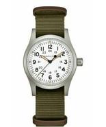 NEW Hamilton H69439411 Khaki Field Mechanical 38mm Case Green Nylon Strap Watch - $387.10