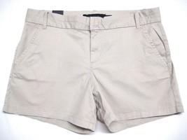 Calvin Klein Jeans Ladies Shorts Casual Flat Front Shorts 12 Khaki Beige  NEW - $21.77