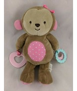 "Carters Child of Mine Monkey Plush Teether Rings 9"" Stuffed Animal - $15.38"