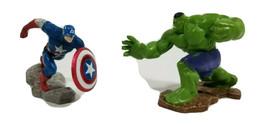 Marvel Hulk and Captain America figures - $19.97