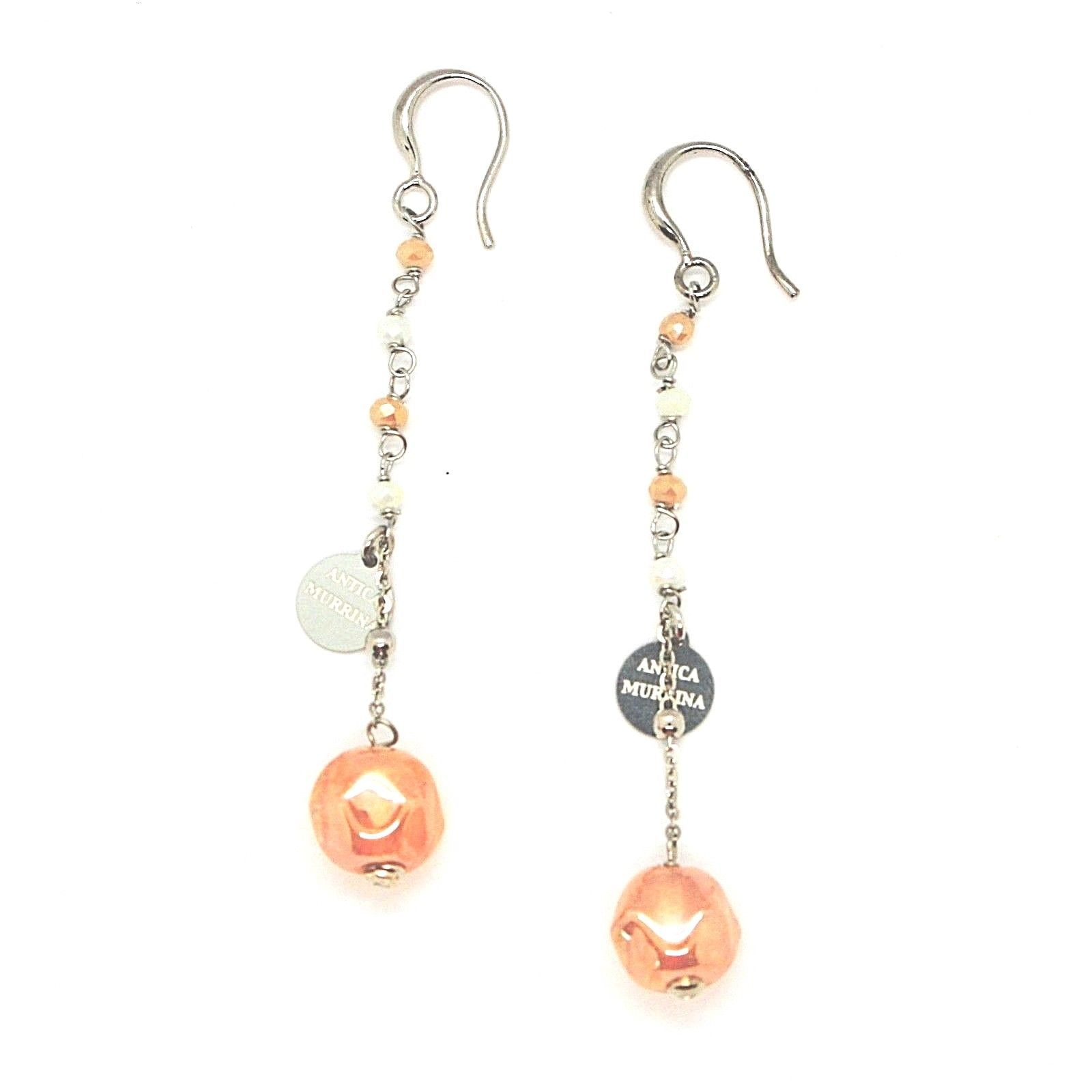 EARRINGS ANTICA MURRINA VENEZIA WITH MURANO GLASS YELLOW AND BEIGE OR564A10