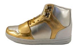 Creative Recreation Womens Gold Silver Cesario Hi Top Gym Shoes Sneakers 5.5 NIB