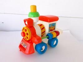 Vintage Child Guidance Busy CHOO-CHOO Train Kids Toy 1982 Educational Mirror - $16.01