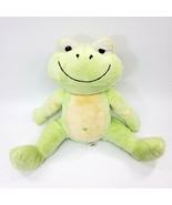 PB Piccolo Bambino Frog Green Heart Belly Button Plush Sitting Stuffed T... - $19.99