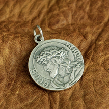 LINSION 925 Sterling Silver Virgin Mary Madonna Jesus Christ Charms Pend... - $55.90