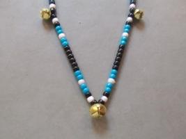SOUTHWEST CHARM ~ HORSE RHYTHM BEADS ~ Black, White, Dk.Turquoise ~ Size... - $17.00