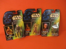 STAR WARS Power Of The Force Dengar Leia Moff Tarkin Lot Of 3 Action Figure Nip  - $25.00