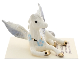 Hagen-Renaker Miniature Ceramic Pegasus Figurine Standing and Lying Set of 2 image 8