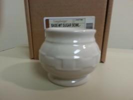 Longaberger Sugar Bowl Base Only  Ivory New In Box Vitrified Pottery - $15.79
