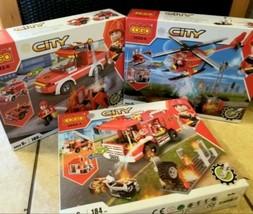 Firefighter City 534-Pc Building Blocks 3 sets - $86.99
