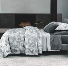Sferra Isella Full Queen Duvet Cover Storm Egyptian Cotton Sateen Jacquard NEW - $375.90