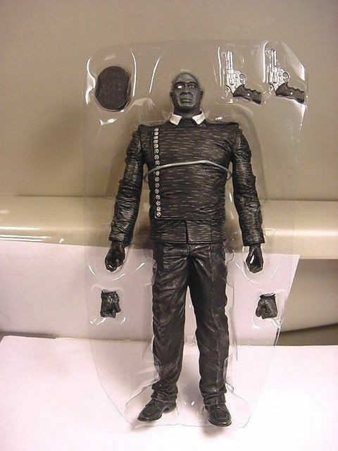 "Primary image for 2005 Sin City Manute B&W 8"" Action Fig Comp Unused Michael Clarke Duncan NECA"
