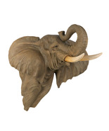 Wall Plaque realistic pachyderm two foot high jungle deco brings luck n ... - $44.95