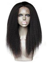 Cbwigs Natural Looking Brazilian Remy Kinky Striaght Lace Front Wig 4.5 ... - $122.10