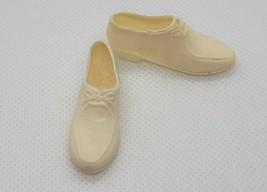 Vintage Barbie Ken 1961 Campus Hero White Shoes JAPAN Squishy - $5.94