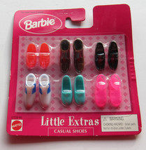 Barbie Doll Little Extras Casual Shoes Pack 1998 NRFP Brown Boots White ... - $16.97