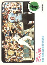 1973 Topps #35 Willie Davis - Los Angeles Dodgers Baseball Card - EX - $0.60