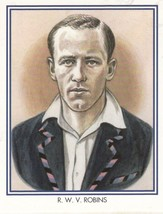 RWV Walter Robins Middlesex Cricket Club Cricketer Rare Cigarette Card - $7.99