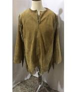 Men's New Native American Mountain Man Buckskin Beige Goat Suede Shirt M... - $139.00+