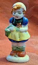 "Vintage Girl with Basket Porcelain Figurine Made in Occupied Japan 3"" image 4"
