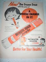 Vintage Minute Maid Frozen Orange Bar Print Mag... - $9.99