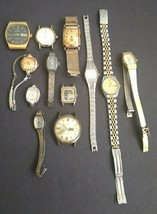 Vintage Watches Watch Parts Incomplete Mixed Lot Various As Is Not Working - $26.47