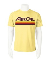 Air Cal Dri Fit graphic Tshirt moisture wicking SPF retro California airline tee image 2