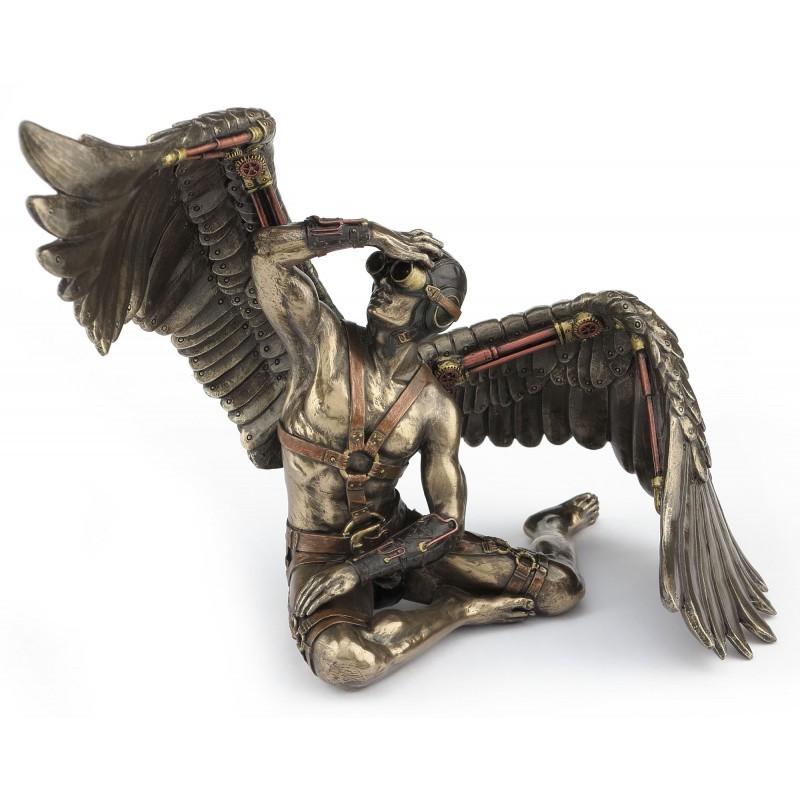 Winged man steampunk